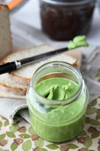 white chocolate - pistachio spread - Like Nutella only these flavors!!!!