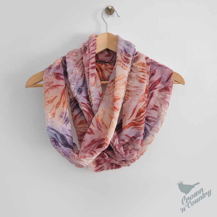 Pretty in Pink - Silk Devore infinity scarf