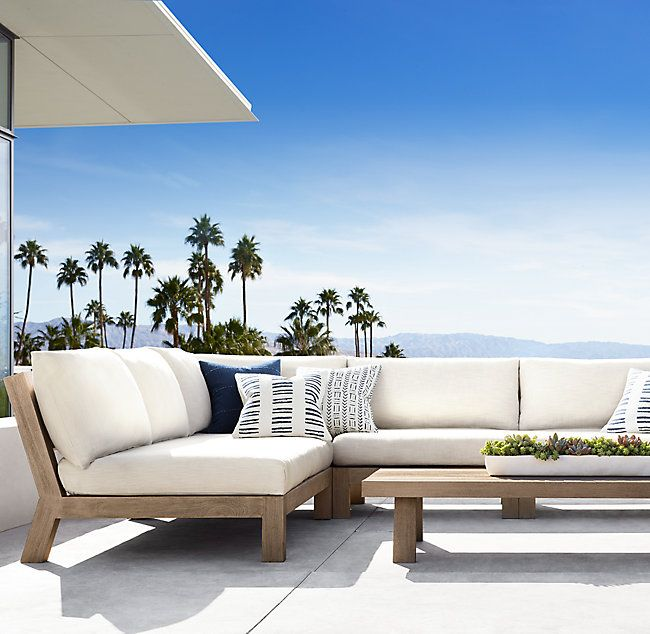 Small Sectional At Upstairs Patio In 2020 Poolside Furniture Outdoor Furniture Australia Teak Outdoor Set