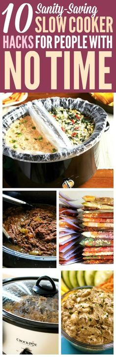 These slow cooker hacks are THE BEST! I'm so happy I found these AMAZING slow cooker recipes ideas! Now I have some great ways to use a crock pot and save time! Definitely pinning! #slowcooker #crockpot #SlowCookerRecipes