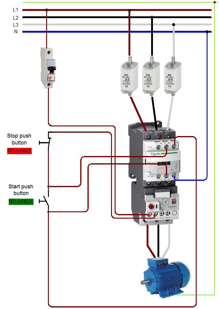 Wiring 20a 20contactor For Contactor And Overload Wiring Diagr Electrical Circuit Diagram Basic Electrical Wiring Home Electrical Wiring