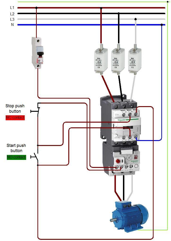 Start Stop Push Button Switch Wiring Diagram