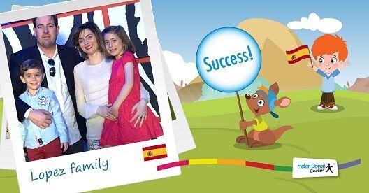 Familia Lopez din Almeria, Spania, este o mare susținătoare a învățării limbii engleze de la o vârstă fragedă și fani declarați ai Helen Doron English! Să cunoaștem familia: Rafael este fermier, Cecelia este ajutor la un birou notarial, iar copiii lor, Jimena de 6 ani și Alonso, de 3 ani, sunt ambii cursanți Helen Doron,