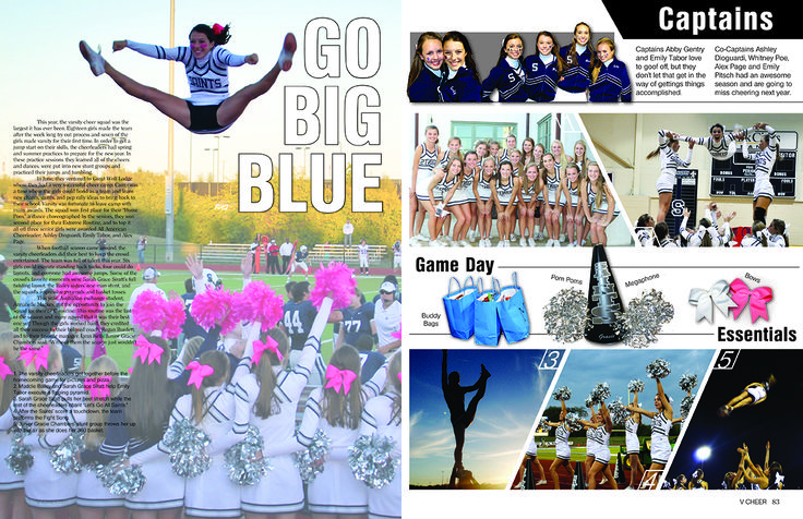 All Saints' Episcopal School / Sports / Varsity Cheer spread