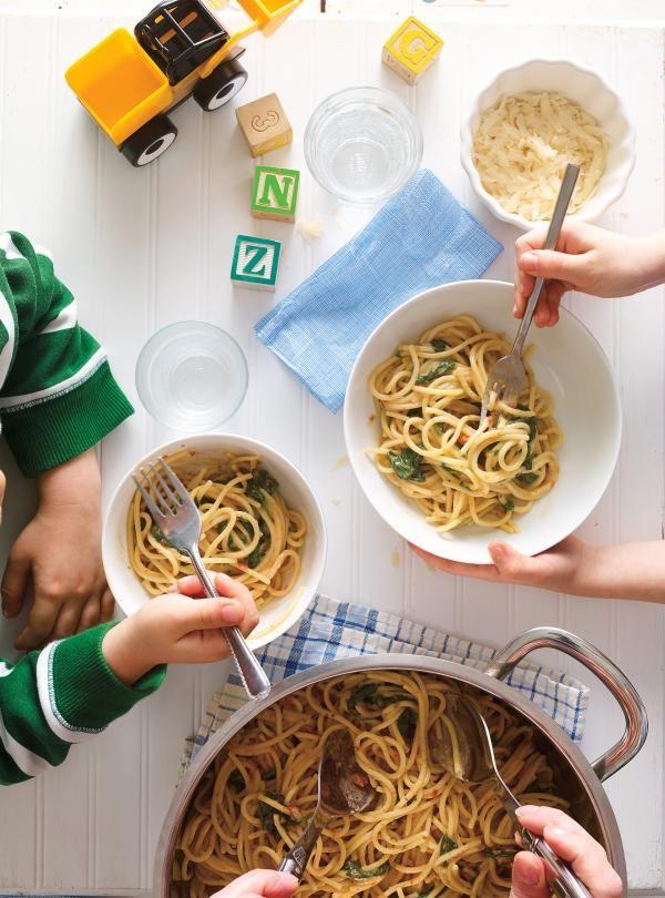 Pâtes «one pot» aux tomates séchées et aux épinards | RICARDO