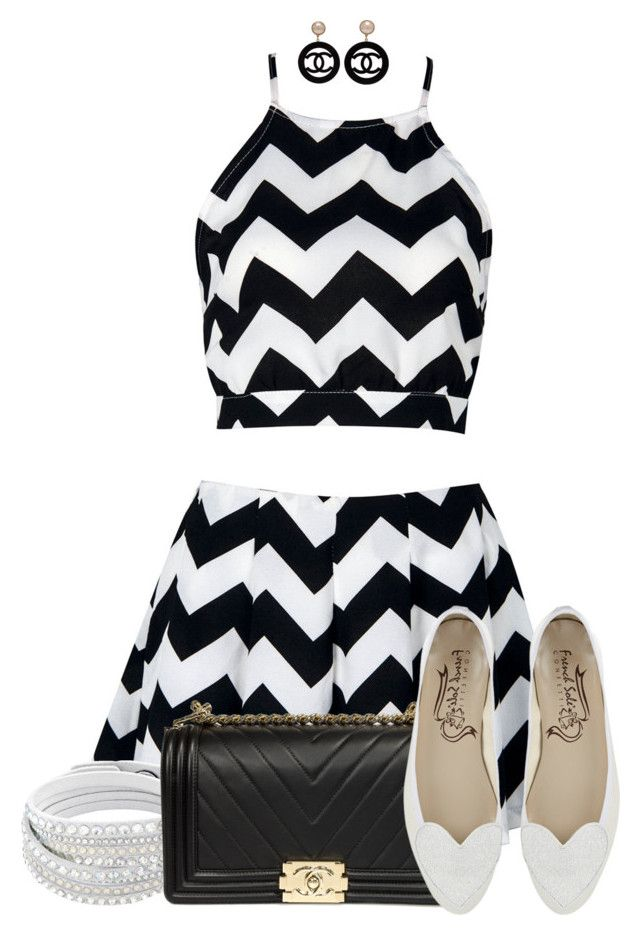 Chevron Outfit by tlb0318 on Polyvore featuring polyvore, fashion, style, Chanel and clothing
