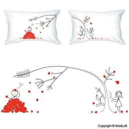 "BOLDLOFT® ""Love You Madly"" Couple Pillowcases-Cute Valentines Gifts,Valentines Pillowcases,Valentines Day Romantic Gifts,Unique Valentines Day Gifts"