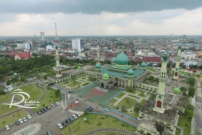 Photo Udara Mesjid Agung An Nur Pekanbaru