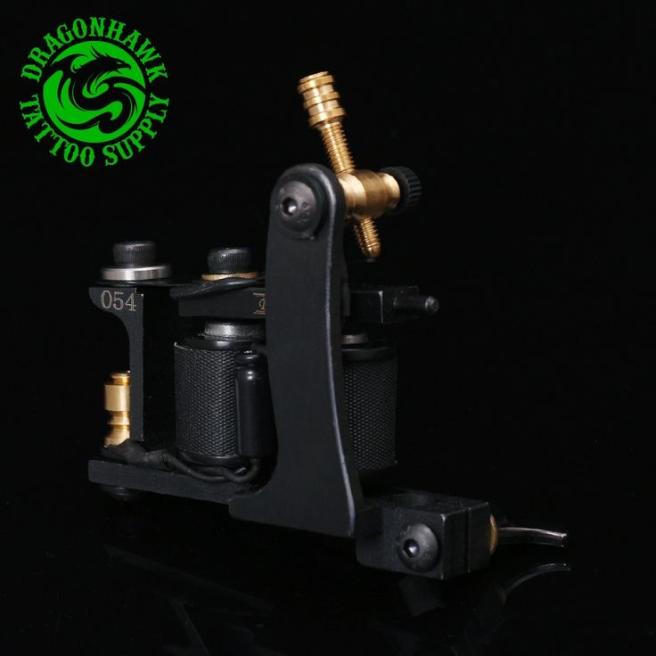 59.99$  Buy now - http://aliy9g.worldwells.pw/go.php?t=32561430182 - New  Iron Black Tattoo Art Professional Tattoo Machine Liner For Sale 10 Wrap Coils Tattoo Machine