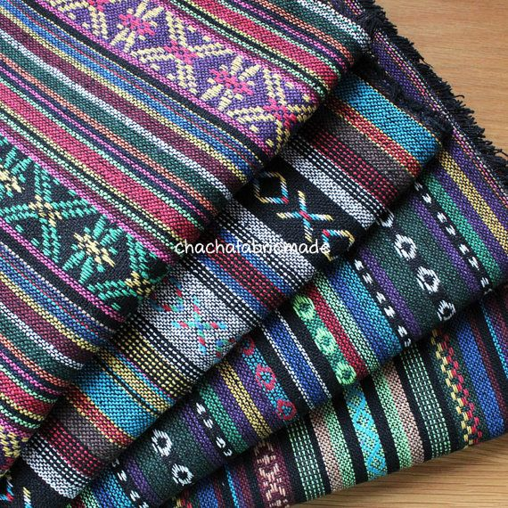 Thai Handwoven Fabric Ethnic Fabric Boho by ChaChaFabricMade
