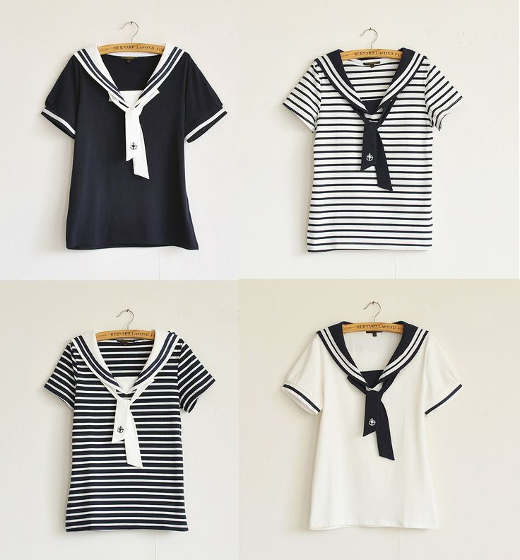 Sailor collars are a cute style