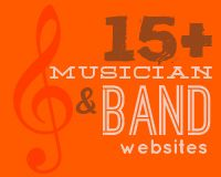 a showcase of musician and band websites