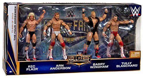 The Four Horsemen Hall of Fame WWE Elite 4 pack figures Ric Flair Arn Anderson Barry Windham Tully Blanchard