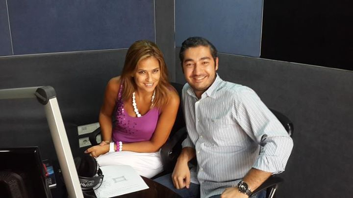 With Lebanese Lottery Presenter & Radio Host Sana Nasr