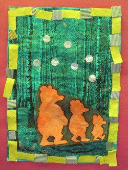 """""""La promenade des 3 ours"""", par les Moyens (Nathaliell, d'après une idée trouvée sur le net)"""