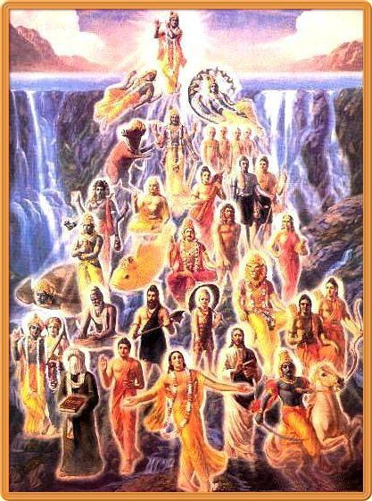 """""The incarnations of the Lord are innumerable, like rivulets flowing from inexhaustible sources of water."" SB 1.3.26"