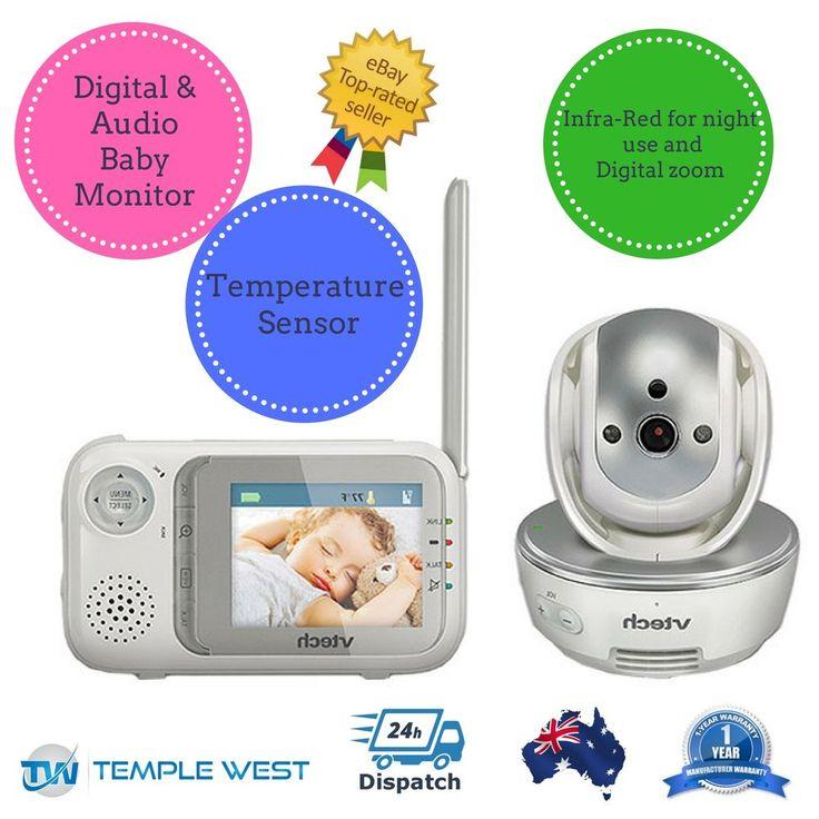 Baby Monitor VTECH BM3500 Safe Sound Digital Video Audio Lullabies Pan & Tilt