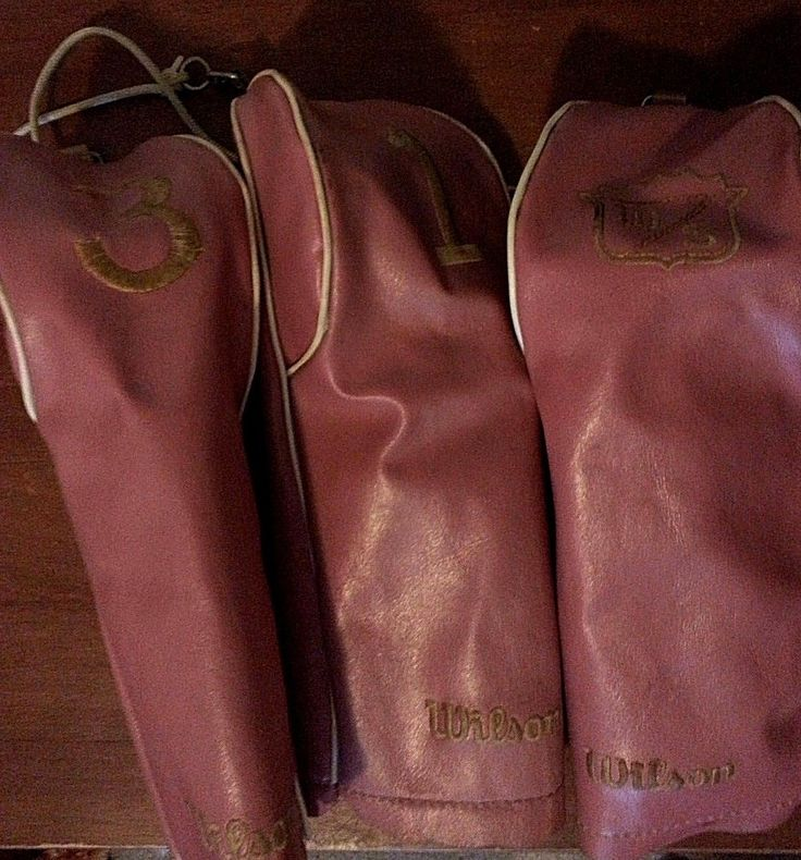 Set of 3 Vintage Genuine Faux Leather Wilson Golf Club Head Covers Pink in Sporting Goods, Golf, Golf Clubs & Equipment, Golf Clubs | eBay