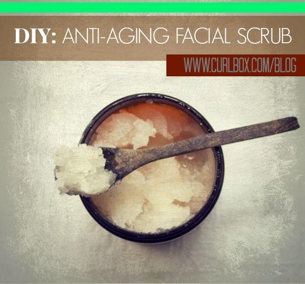 DIY: ANTI-AGING FACIAL SCRUB - http://blog.curlbox.com/2014/03/06/diy-anti-aging-facial-scrub/