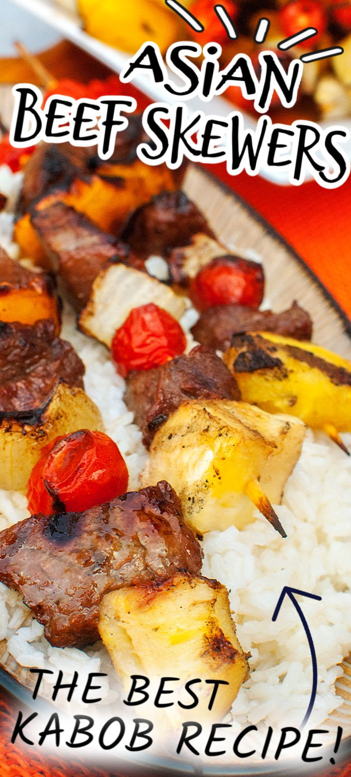 Jun 16, 2020 – These ASIAN BEEF SKEWERS are an easy BBQ kabob recipe with tender beef, seasonal veggies, and a mouthwate…
