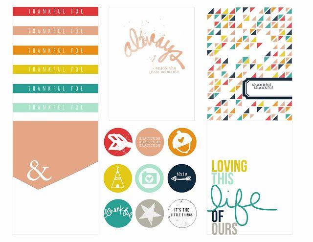 Printable -- Gratitude Documented Journal Cards [Set One]