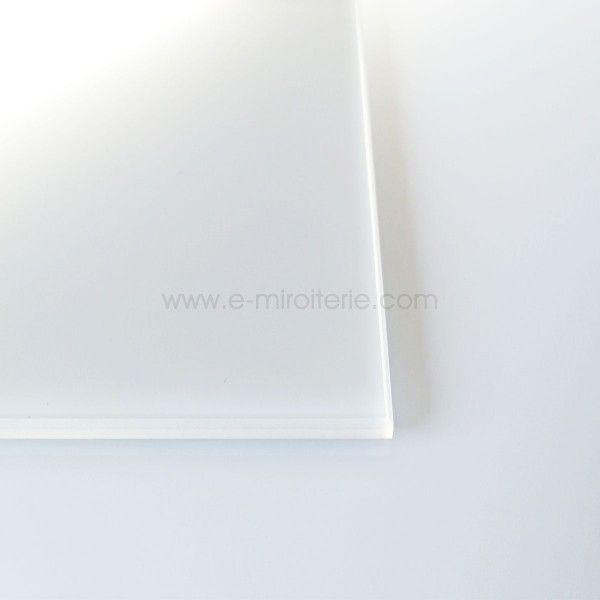 Crédence verre trempé émaillé BLANC BRUME- ép 6mm