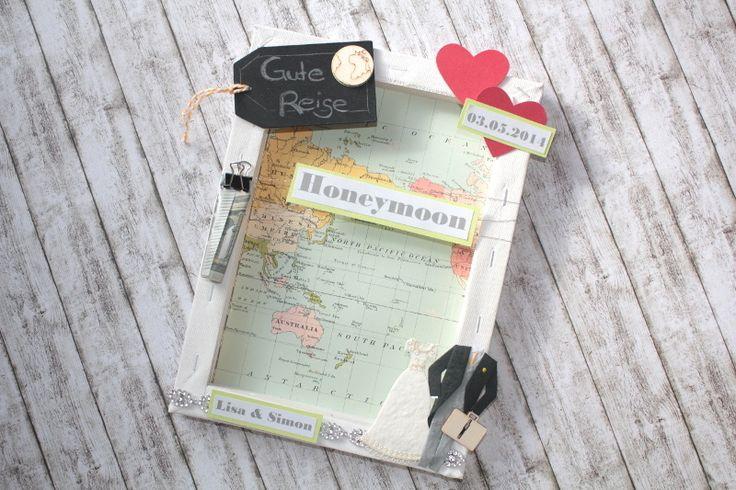 Honeymoon+-++Geldgeschenk+in+besonderem+Rahmen+von+~purFürstlich~+auf+DaWanda.com