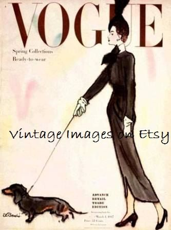 Vogue  Spring Collection by VintageImagesonEtsy on Etsy, $1.75