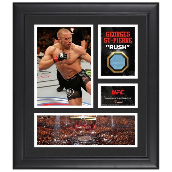 """Georges St-Pierre Ultimate Fighting Championship Fanatics Authentic Framed 15"""" x 17"""" Collage with Piece of Match-Used Canvas from UFC 129 - $79.99"""