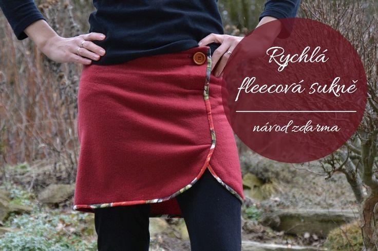 Návod zdarma na rychlou fleecovou sukýnku na leginy.