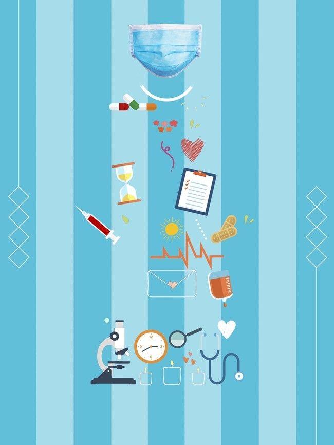 Health aesthetic background