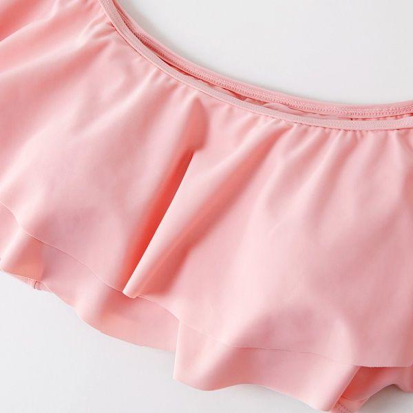 Kids Girls Color Dot Swimwear Swimsuit Bikini Set Outfits by GorNorriss Pink