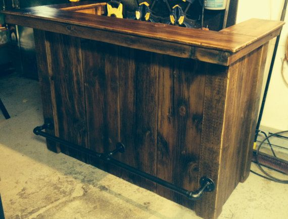 industriel rustique rgnr barnwood bar par archaicbydesign