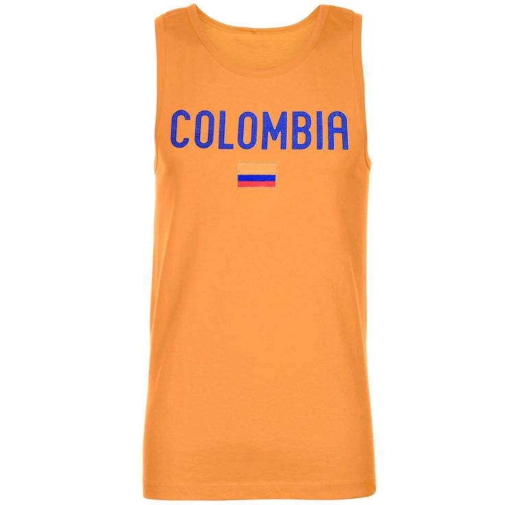 Colombia Country Flag Tank Top – Yellow - $11.39