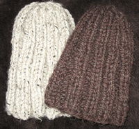 Free Knitting Pattern Man's 2 Hour Beanie - Click to enlarge