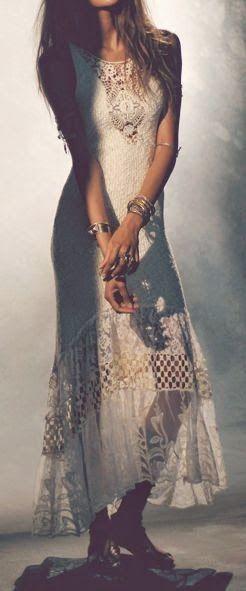 Boho crochet dress