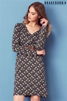 Květované zavinovací šaty Brakeburn s dlouhým rukávem