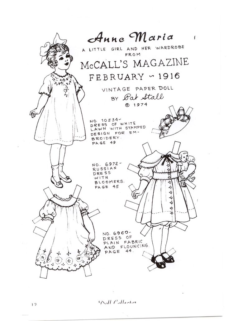126 best Paper Dolls by Pat Stall images on Pinterest Paper
