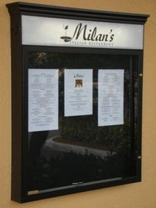 Menu Displays Cabinets for Restaurants
