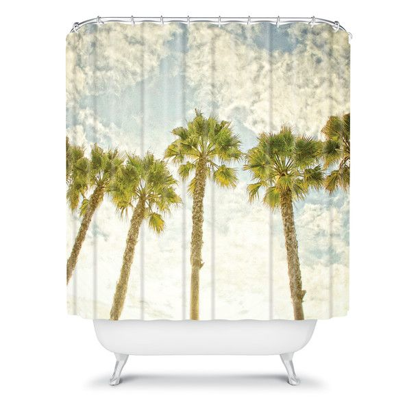 palm trees shower curtain bring me back to san diego