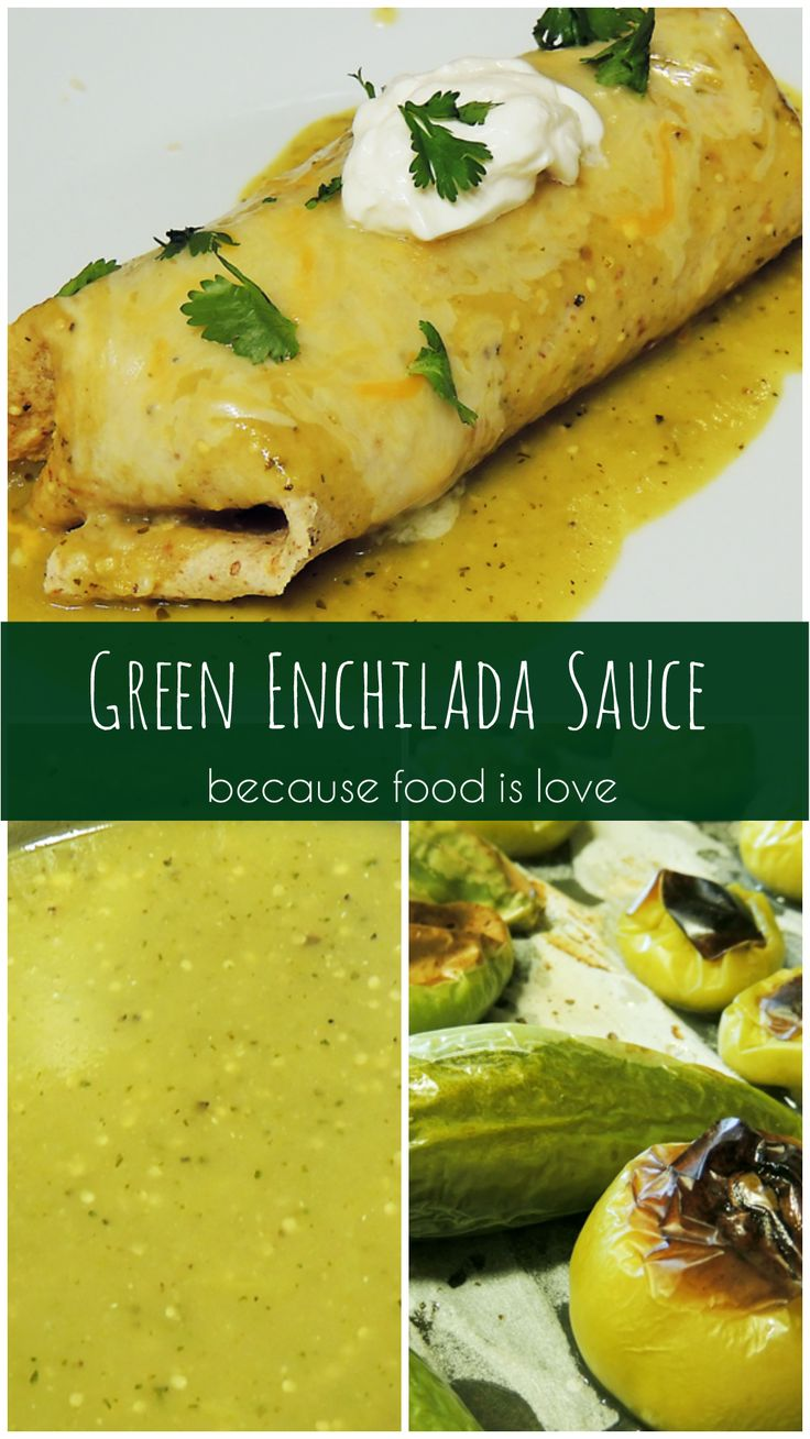If you have the time, try making your own homemade green enchilada sauce. It doesn't really taste like the canned stuff – it tastes so much better. And as an added bonus since you made it from scratch you know exactly what's in it. There are no preservatives or additives and you get to control the salt content.