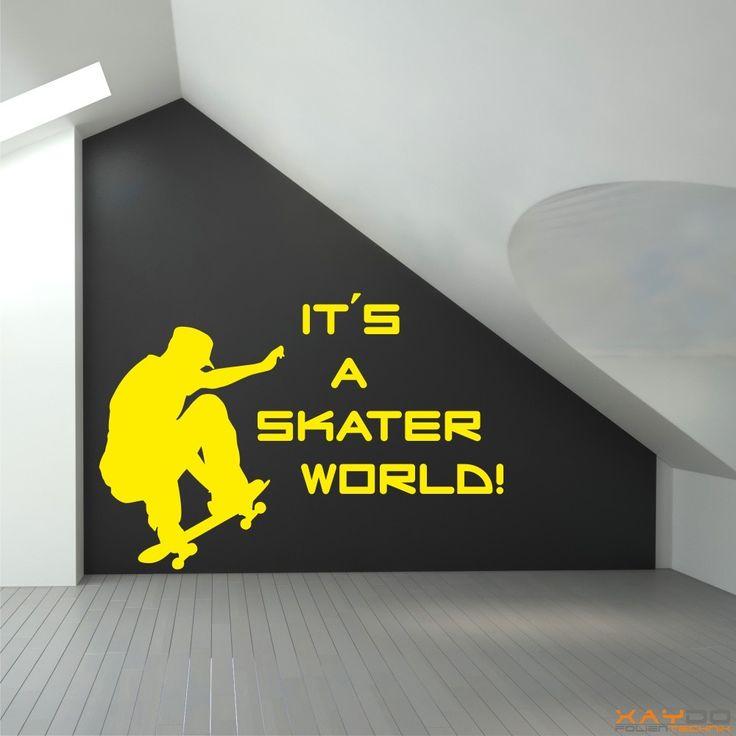 Vintage Wandtattoo It s a Skater World ab uac