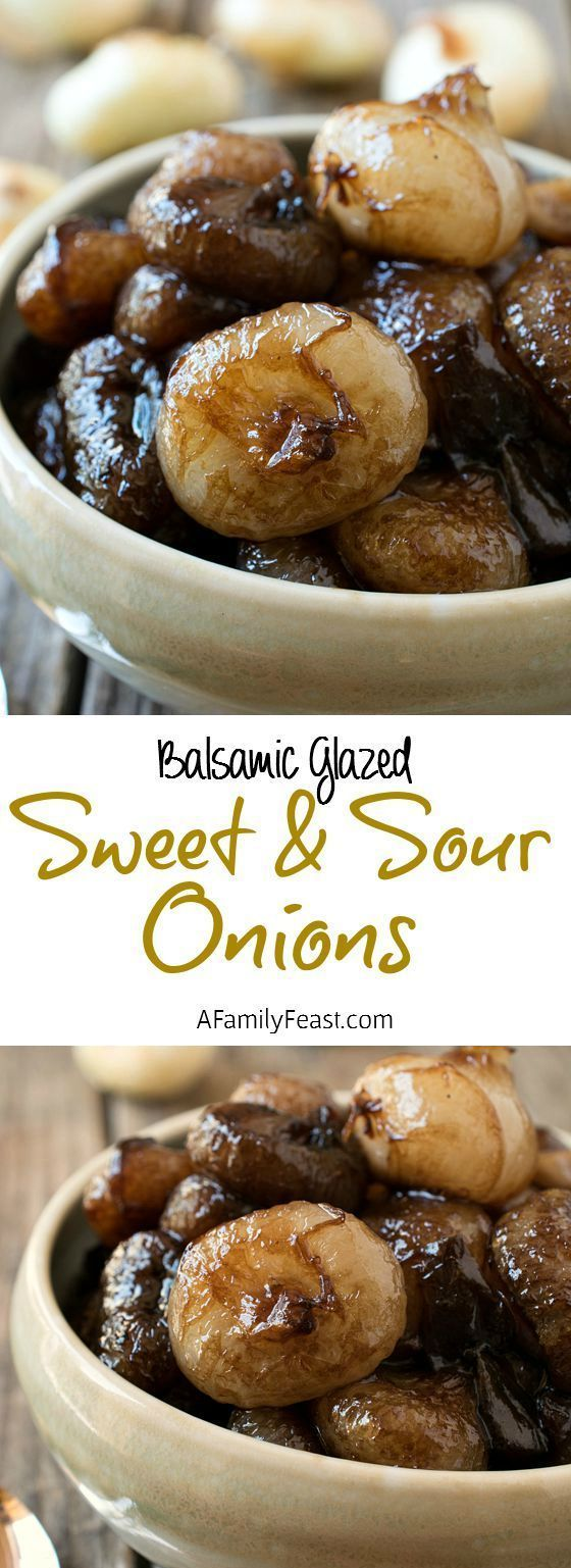 Sweet and Sour Balsamic Glazed Onions | Recipe | Onions, Steaks and ...