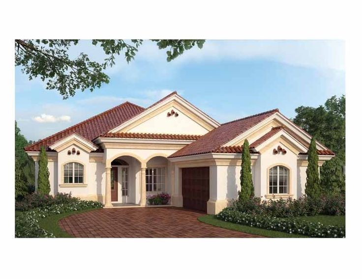 Mediterranean House Plan with 2500 Square Feet and 3 Bedrooms from
