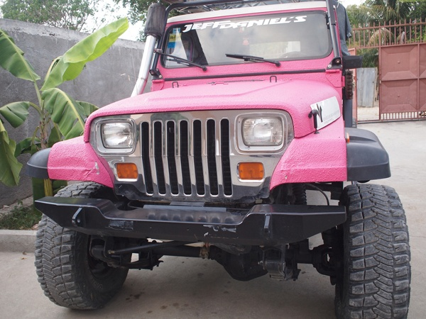 A pink Jeep! I'd have it painted with roses, too!