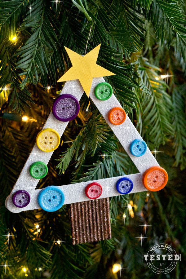 DIY Kids Christmas Tree Ornament You are going to LOVE creating these Christmas Tree Ornaments! This is a quick and easy craft for you and your kids.