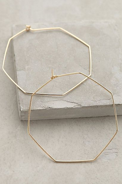 Hexagon Hoops #anthrofav #greigedesign