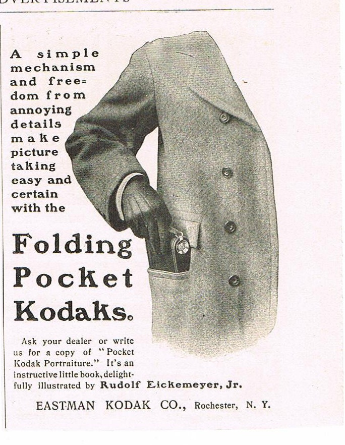 Antique 1901 Kodak Camera Advertisement Ad