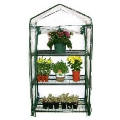 3 Tier Garden Growing Rack Greenhouse Kit By EarthCareGreenhouses.com.
