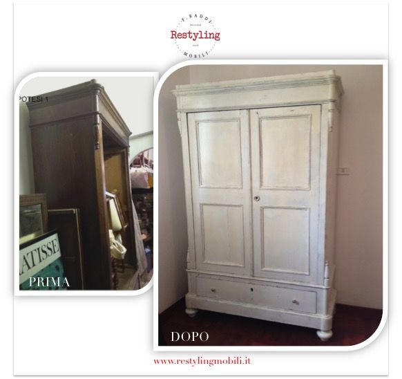 Armadio shabby by Restyling Mobili www.restylingmobili.it